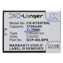 Аккумулятор для Kyocera E6560 3100 mAh